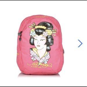 Ed Hardy B1misgei Backpack ( Pink )
